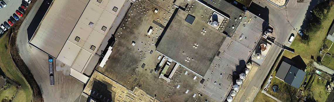 Drohnenflug 2D Vogelperspektive